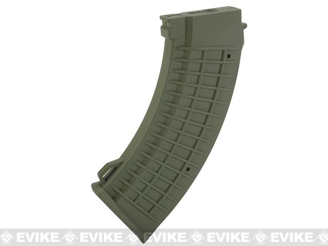 King Arms AK 110 rounds Thermal Style Mid-Cap Magazine (Color: OD Green / One Magazine)