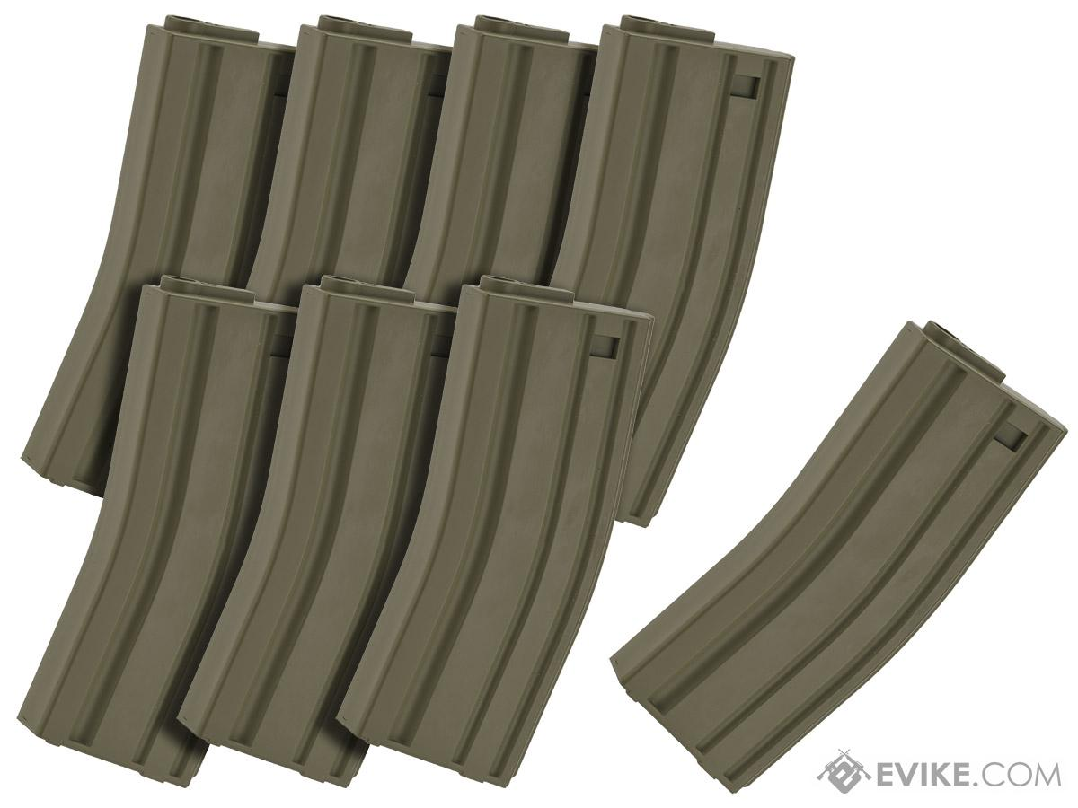 MAG 130rd Midcap Magazine for M4 / M16 Series Airsoft AEG Rifles  (Color: OD Green / Set of 8)
