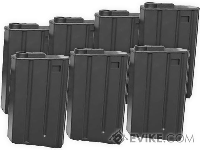 MAG VN-Style 130rd Mid-Cap Magazine for M4 / M16 Series Airsoft AEG (Package: Set of 7)