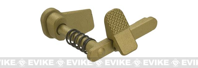 APS Ambidextrous Magazine Release for M4/M16 Series Airsoft AEGs (Color: Gold)