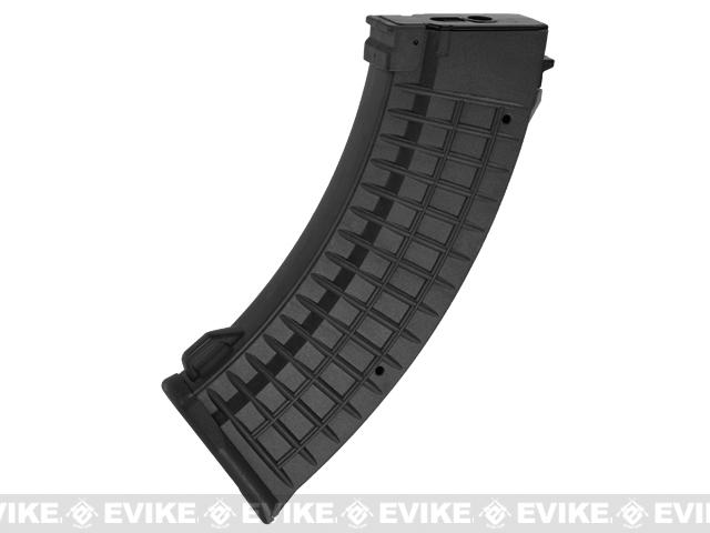Matrix 110rd Waffle Type Polymer Magazine for AK Series Airsoft AEG Rifles (Color: Black)