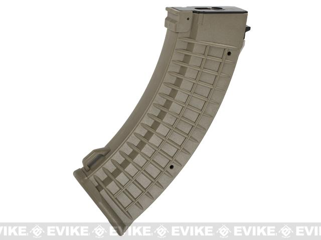 Matrix 110rd Waffle Type Polymer Magazine for AK Series Airsoft AEG Rifles (Color: Dark Earth)