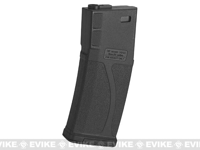 Blue Box 140rd Polymer Midcap Magazine for M4 / M16 Series Airsoft AEG Rifles (Color: Black / Single)