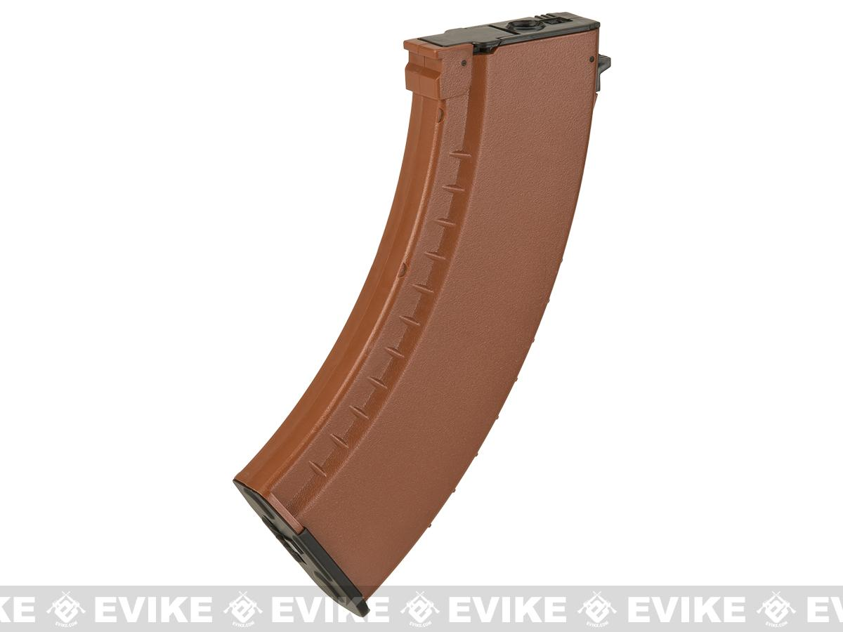 CYMA 550rd Hi-Cap Polymer Magazine for Airsoft AK Series AEG (Color: Imitation Bakelite)