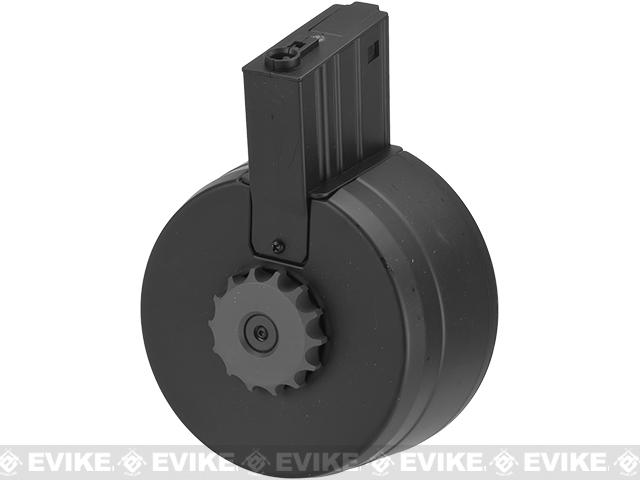 A&K 3000rd Auto Winding & Sound Control Drum Magazine for EK25/SR25 Series Airsoft AEG