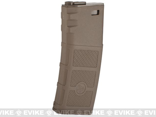 G&P Evike High RPS 130rd Polymer Mid-CAP Magazine for M4 M16 Airsoft AEG Rifles (Color: Dark Earth / Single Magazine)