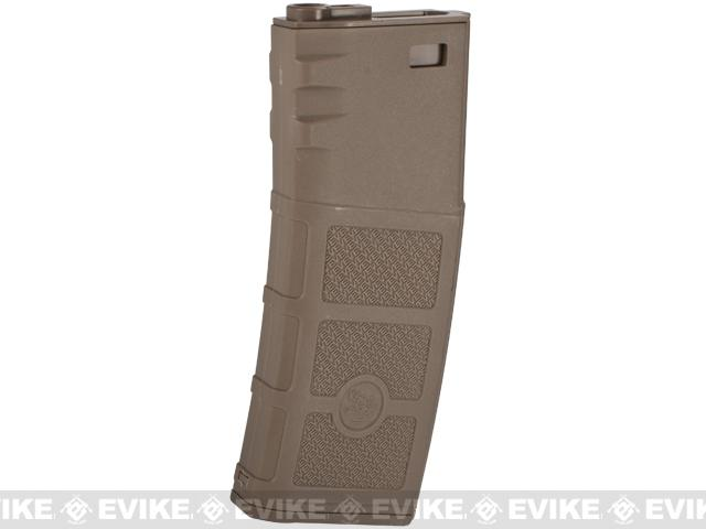 G&P Evike High RPS 360rd Polymer HI-CAP Magazine for M4 M16 Airsoft AEG Rifles (Color: Dark Earth/ One)