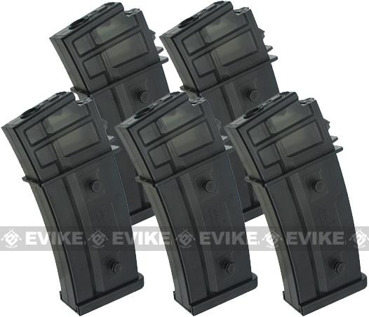G36 470rd Hicap Magazine for H&K G36 SL9 Marui Series Airsoft AEG Rifles (Package: Box Set of 5)