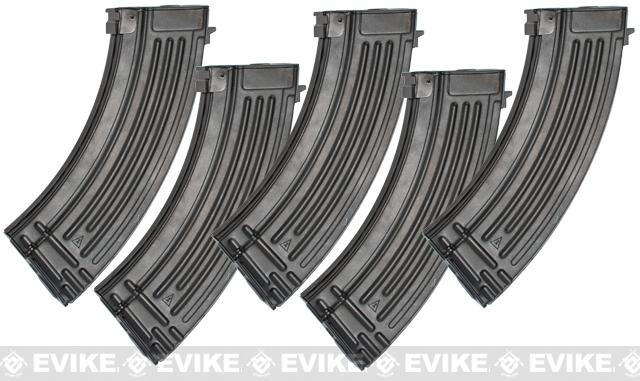 G&P 150rd High Precision Metal Mid-Cap Magazine for AK Series Airsoft AEG Rifles (Package: Set of 5)
