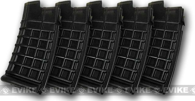 JG 330 Round Hi-Cap Magazine for AUG Series AEGs (Color: Black / Pack of 5)
