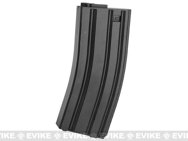 6mmProShop 140rd Midcap Magazine for M4 M16 Series Airsoft AEG Rifles (Color: Black / Single Magazine)