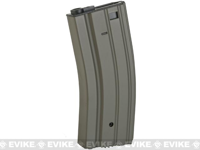 Full Metal 300 round Hi-Cap Magazine For M4 M16 L85 SCAR Series Airsoft AEG (Color: OD Green)