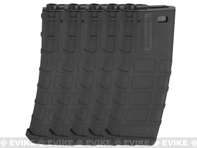 z Magpul PTS Licensed 360rd High Cap Mag for M4/M16 Series Airsoft AEG (Black / Set of 5)