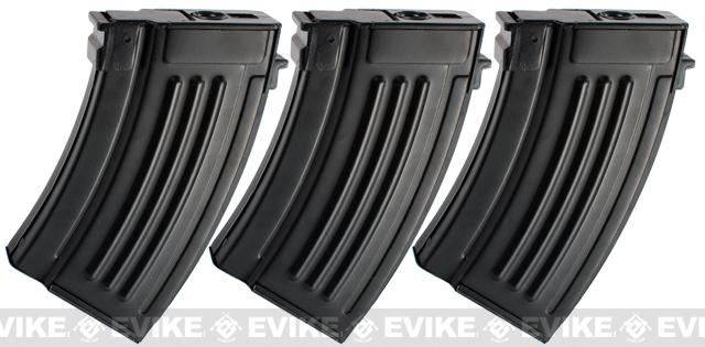 Matrix Short Type Full Metal 280rd Hi-Cap Magazine for AK series Airsoft AEG (Package: 3 Magazines)