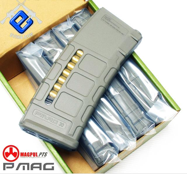 z Magpul PTS 75rd Mid-Cap PMAG for M4 M16 Series Airsoft AEG - Foliage Green (Box Set of 5)