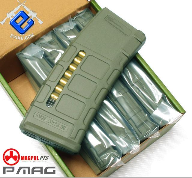 z Magpul PTS 75rd Mid-Cap PMAG for M4 M16 Series Airsoft AEG - OD Green (Box Set of 5)