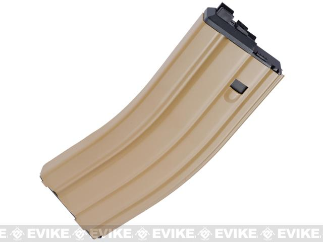 WE Spare Mag for OPEN BOLT WE M4 / SCAR / ASC / PDW Series Airsoft Gas Blowback Rifles (Version: Green Gas / Tan)