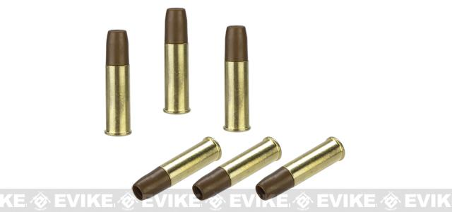 Spare Brass Shells for WinGun / Dan Wesson Series 6mm Airsoft Co2 Revolvers - Set of 6