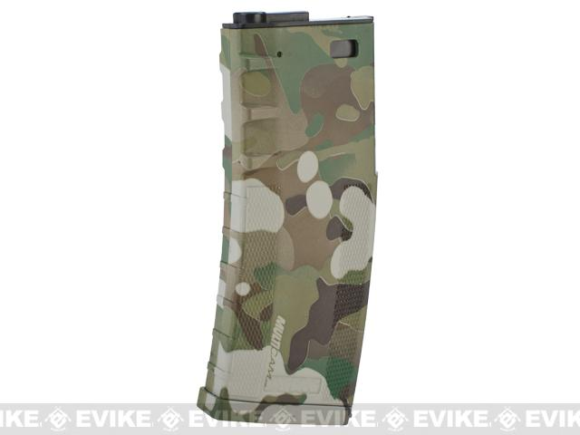 DYTAC 120rd Polymer Mid-Cap Magazine for M4 / M16 Series Airsoft AEG Rifles(Color: Multicam)