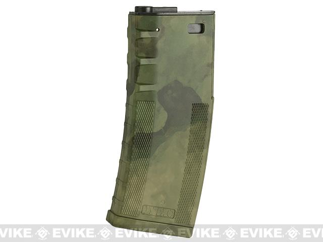 DYTAC 120rd Polymer Mid-Cap Magazine for M4 / M16 Series Airsoft AEG Rifles(Color: A-TACS FG)