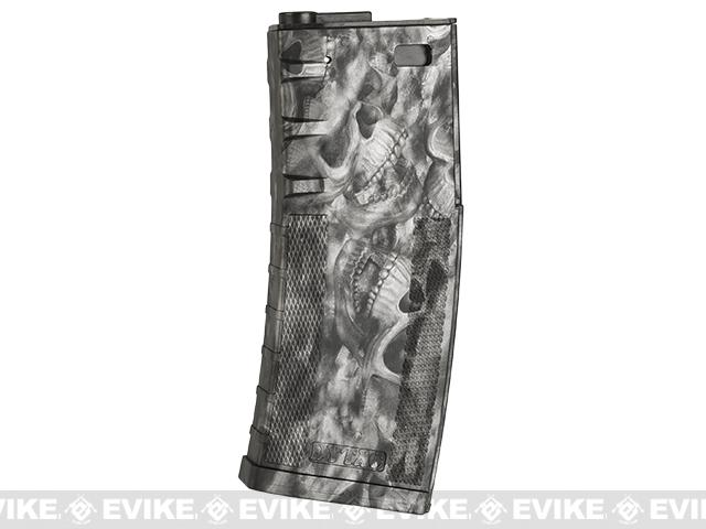 DYTAC 120rd Polymer Mid-Cap Magazine for M4 / M16 Series Airsoft AEG Rifles(Color: Reaper Black)