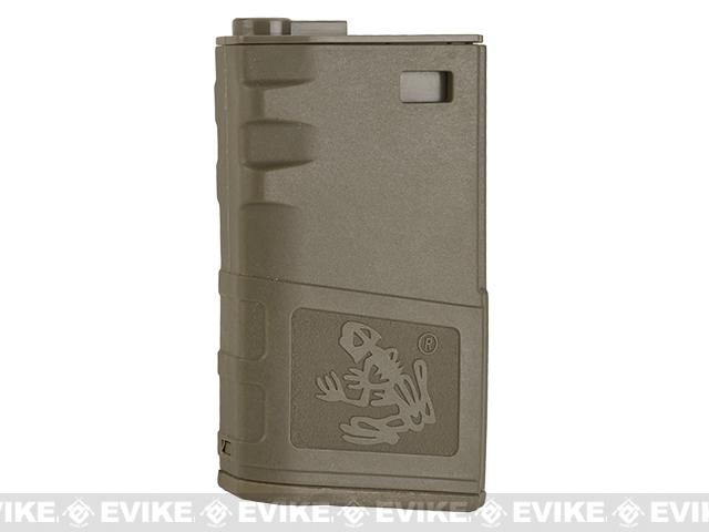 G&P 140rd Short Skull Frog Hi-Cap Magazine for M4 / M16 Series Airsoft AEG Rifles (Color: Dark Earth)
