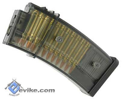 Matrix G36C / XM8 Precision Feeding 50 Round Mid-CAP Magazine w/ Dummy Bullet (Package: Box of 5)