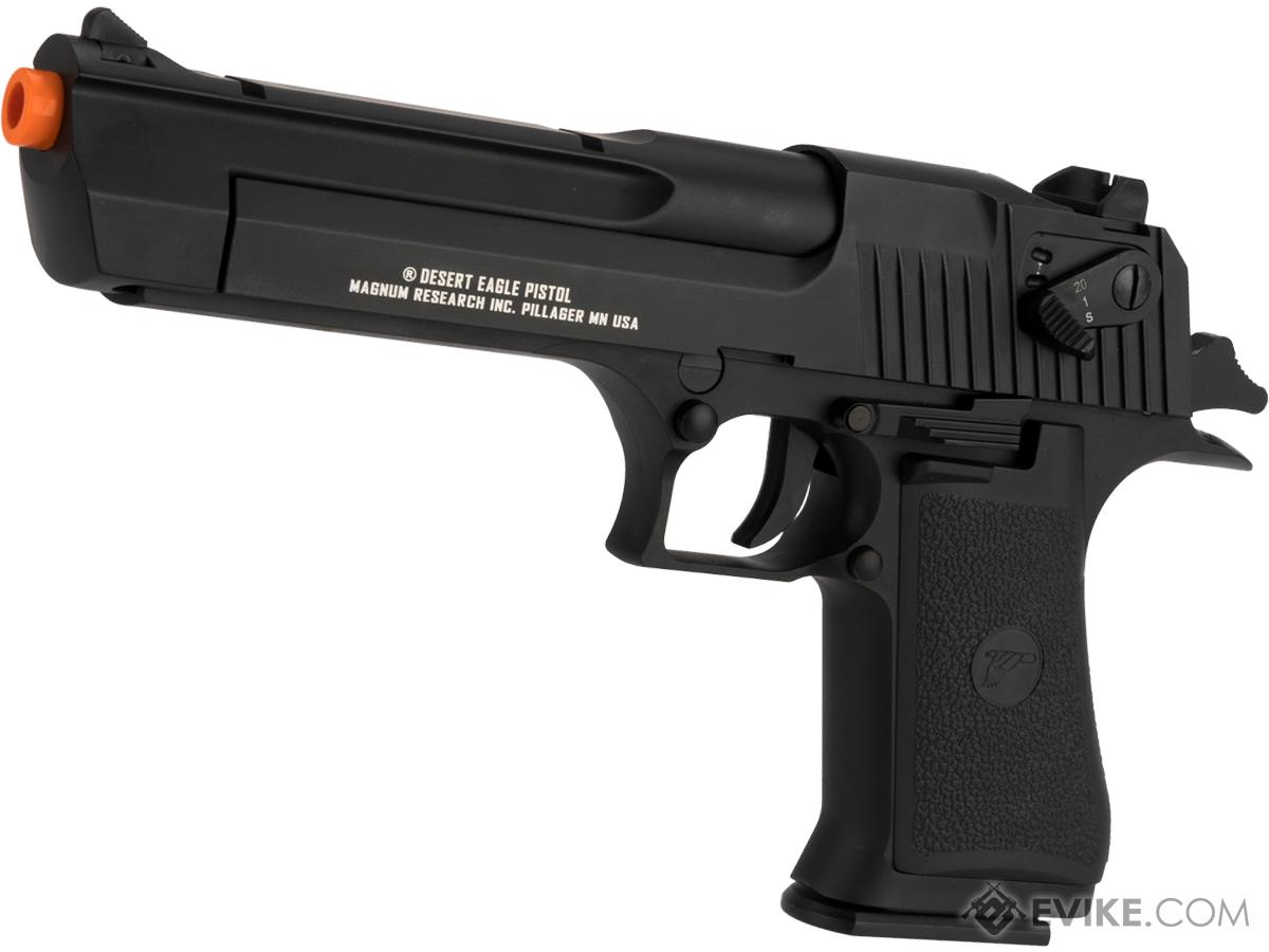 Pre-Order ETA June 2018 Magnum Research Licensed Semi/Full Auto Metal Desert Eagle CO2 Gas Blowback Airsoft Pistol by KWC (Color: Black)