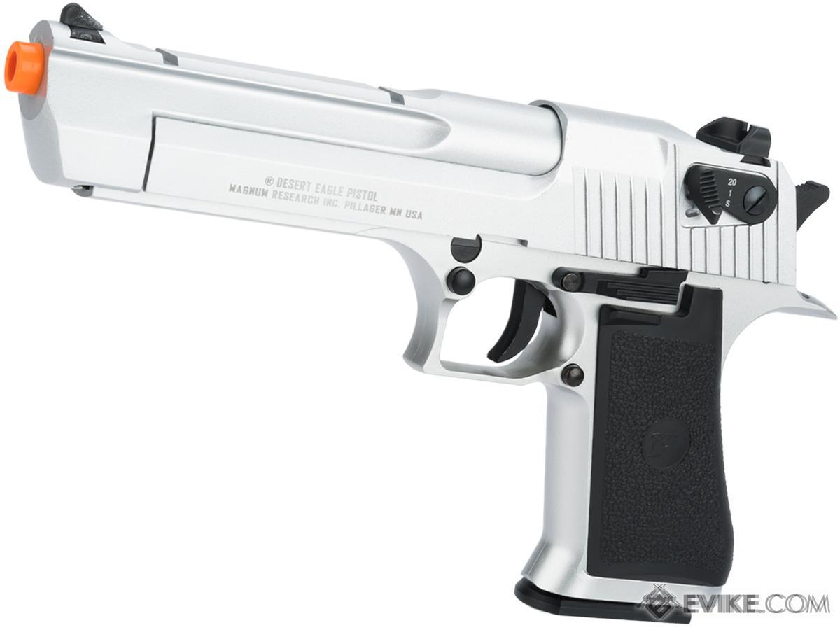Pre-Order ETA May 2018 Magnum Research Licensed Semi/Full Auto Metal Desert Eagle CO2 Gas Blowback Airsoft Pistol by KWC (Color: Silver)
