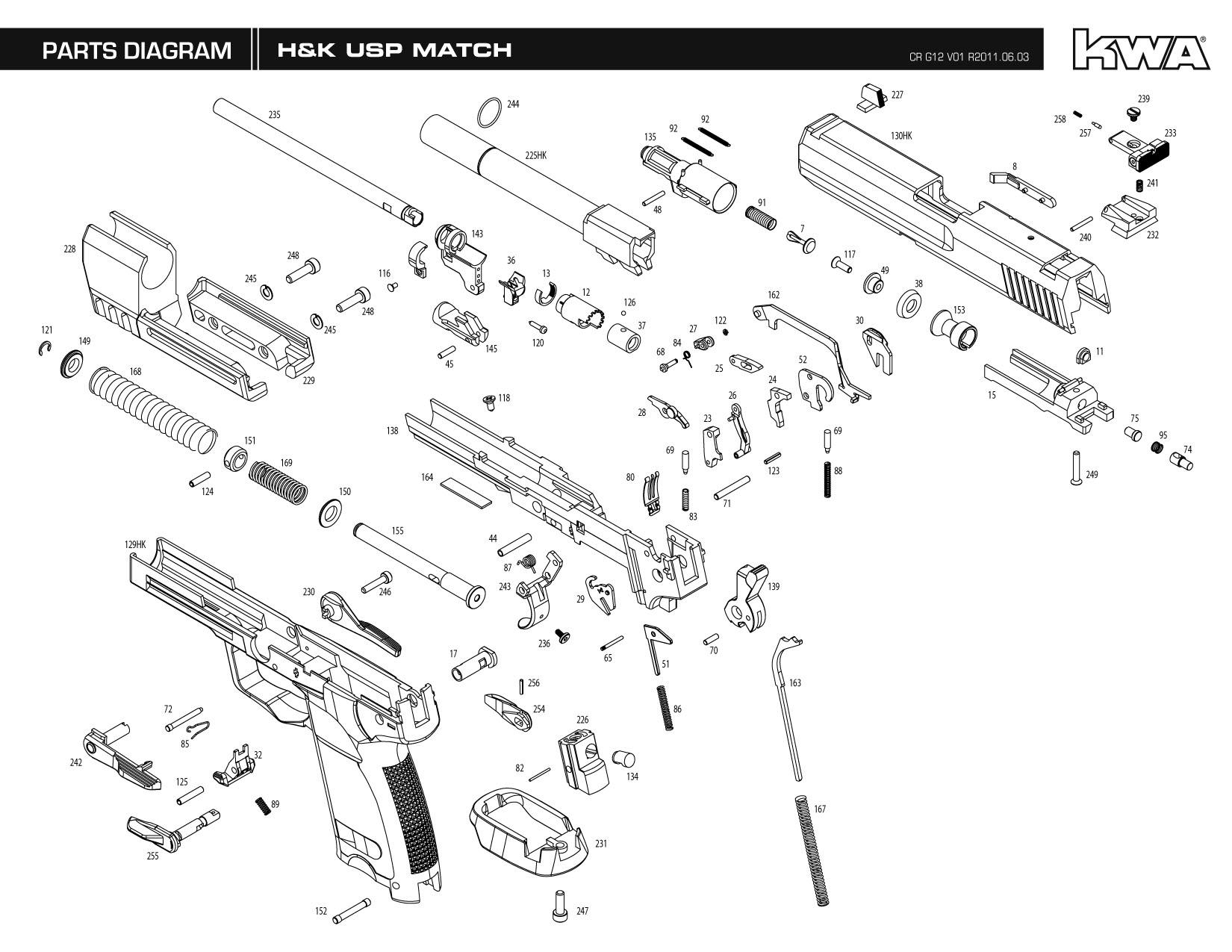 free download kwa h&k usp match gas blowback instruction manual walther p99 compact diagram walther p99 diagram #50