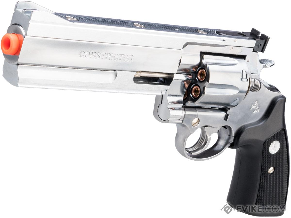 Marushin Colt Constrictor .44 Gas Powered Airsoft Revolver (Color: Ultra Bright Polish)
