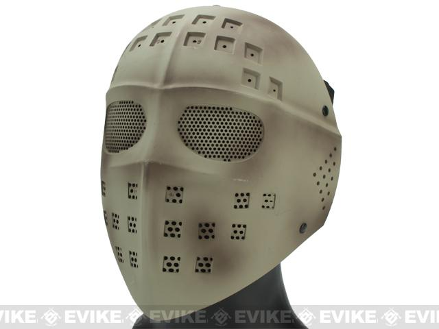 Avengers Wire Mesh Polymer Hockey Airsoft Full Face Mask (Color: Tan)