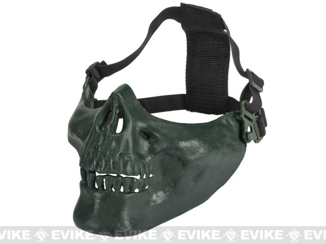 Avengers Skull Iron Face Lower Half Mask - OD Green