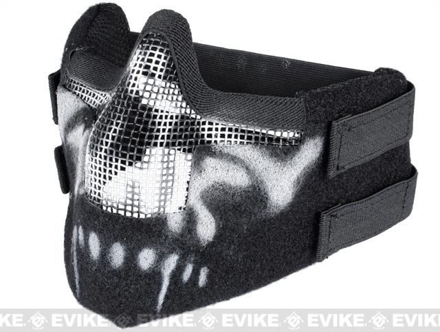 Matrix Iron Face Carbon Steel Striker Gen5 Metal Mesh Lower Half Mask - Skull