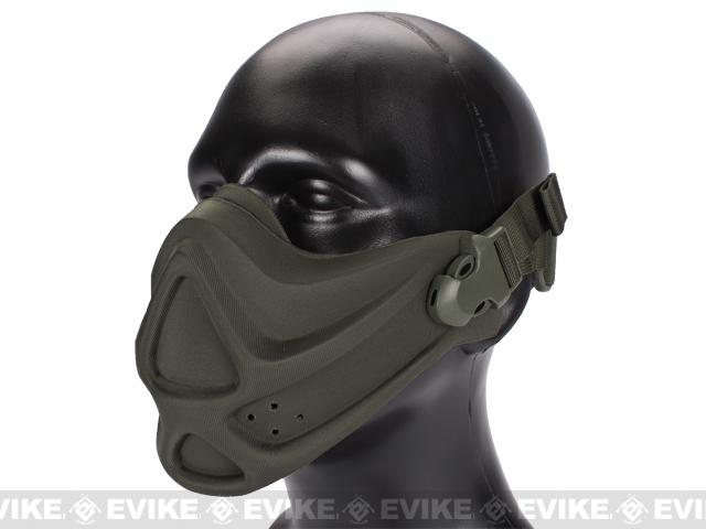 Matrix High Speed Lightweight Half Face Mask (Color: Foliage Green)