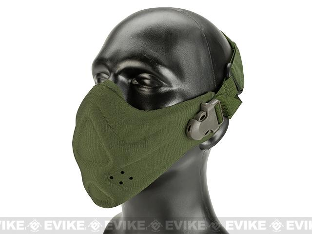Matrix High Speed Lightweight Half Face Mask (Color: OD Green)