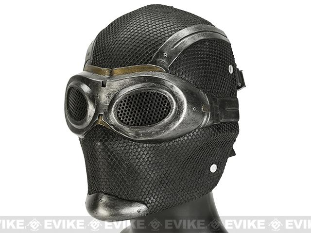 Evike.com R-Custom Fiberglass Wire Mesh Thane - Breathing Mask Inspired by Mass Effect - Black