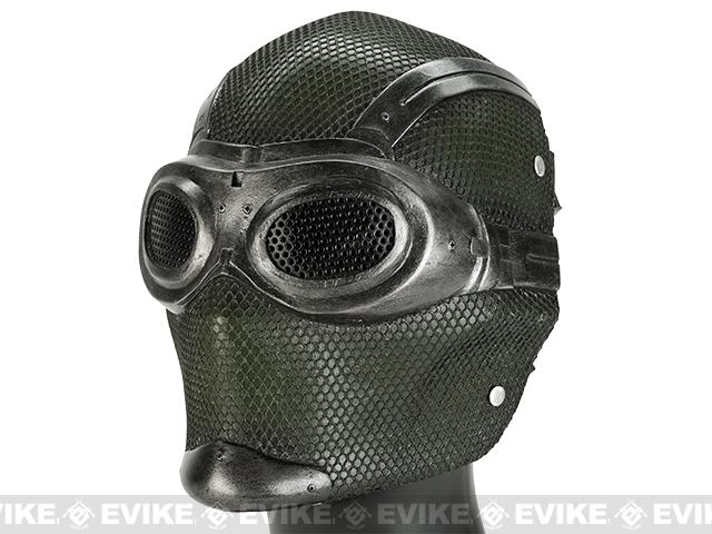 Evike.com R-Custom Fiberglass Wire Mesh Thane - Breathing Mask Inspired by Mass Effect - OD Green