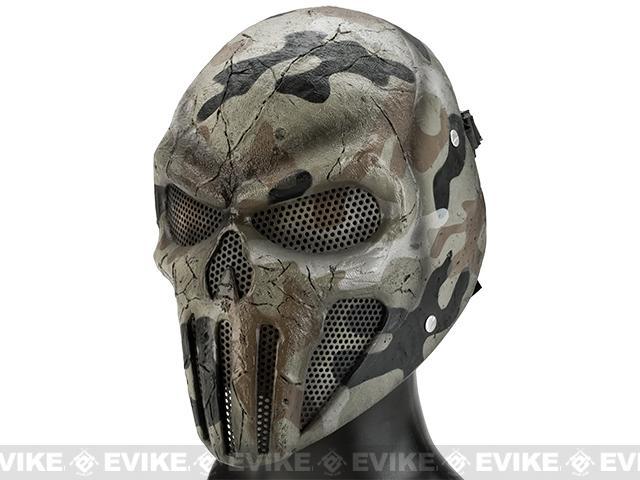 z Evike.com R-Custom Fiberglass Wire Mesh SKULL Mask - Desert Camo