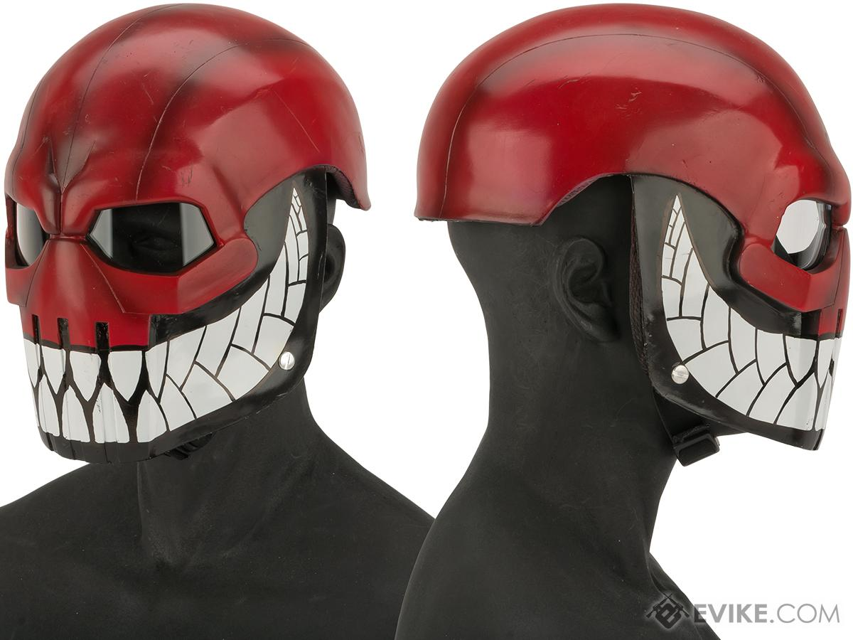 Evike.com R-Custom Fiberglass  Task Master Full Face Mask with Clear Lens (Color: Grin Reaper / Clear Lens)