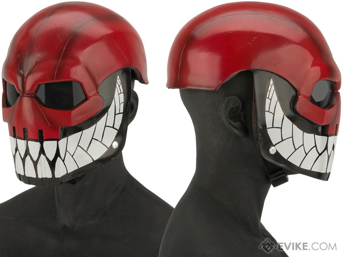 Evike.com R-Custom Fiberglass  Task Master Full Face Mask (Color: Grin Reaper / Smoked Lens)