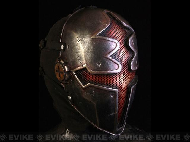 Pre-Order ETA August 2016 Evike.com R-Custom Fiberglass Wire Mesh Red Paladin Mask Inspired by Hellgate