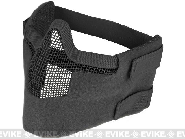 Matrix Iron Face Carbon Steel Striker Gen5 Metal Mesh Lower Half Mask - Black