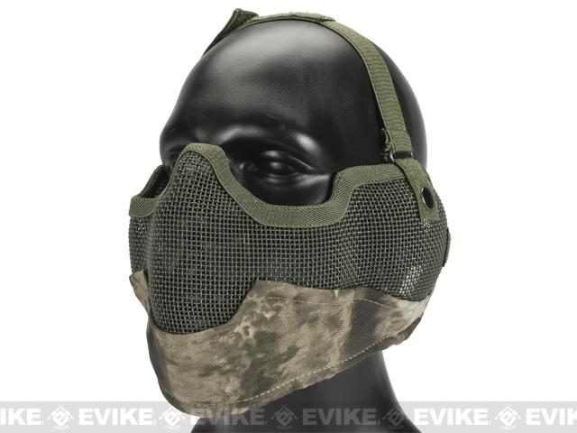 Matrix Iron Face Carbon Steel Striker Gen2 Metal Mesh Lower Half Mask - Arid Camo