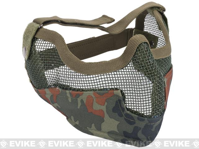 Matrix Iron Face Carbon Steel Striker Gen2 Metal Mesh Lower Half Mask  (Color  Flecktarn ab159cebb