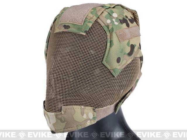 Matrix High Speed Striker Helmet Full Face Carbon Steel Mesh Mask Helmet - Camo