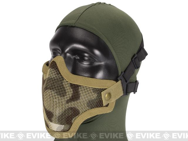 Matrix Iron Face Carbon Steel Mesh Striker V1 Lower Half Mask - Desert camo