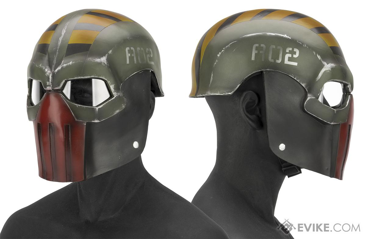 Evike.com R-Custom Fiberglass  Task Master Full Face Mask (Color: Robo / Clear Lens)
