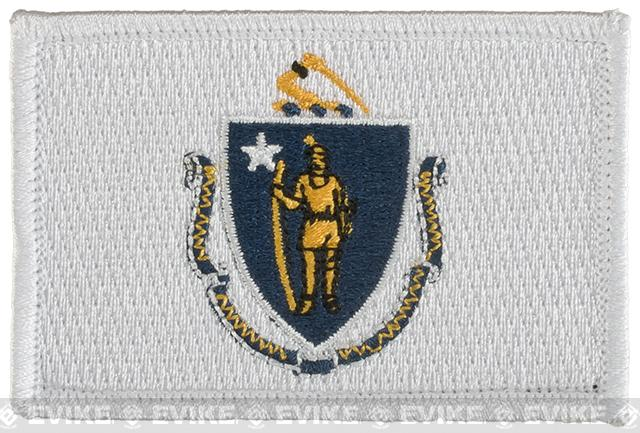 Evike.com Tactical Embroidered U.S. State Flag Patch (State: Massachusetts The Bay State)