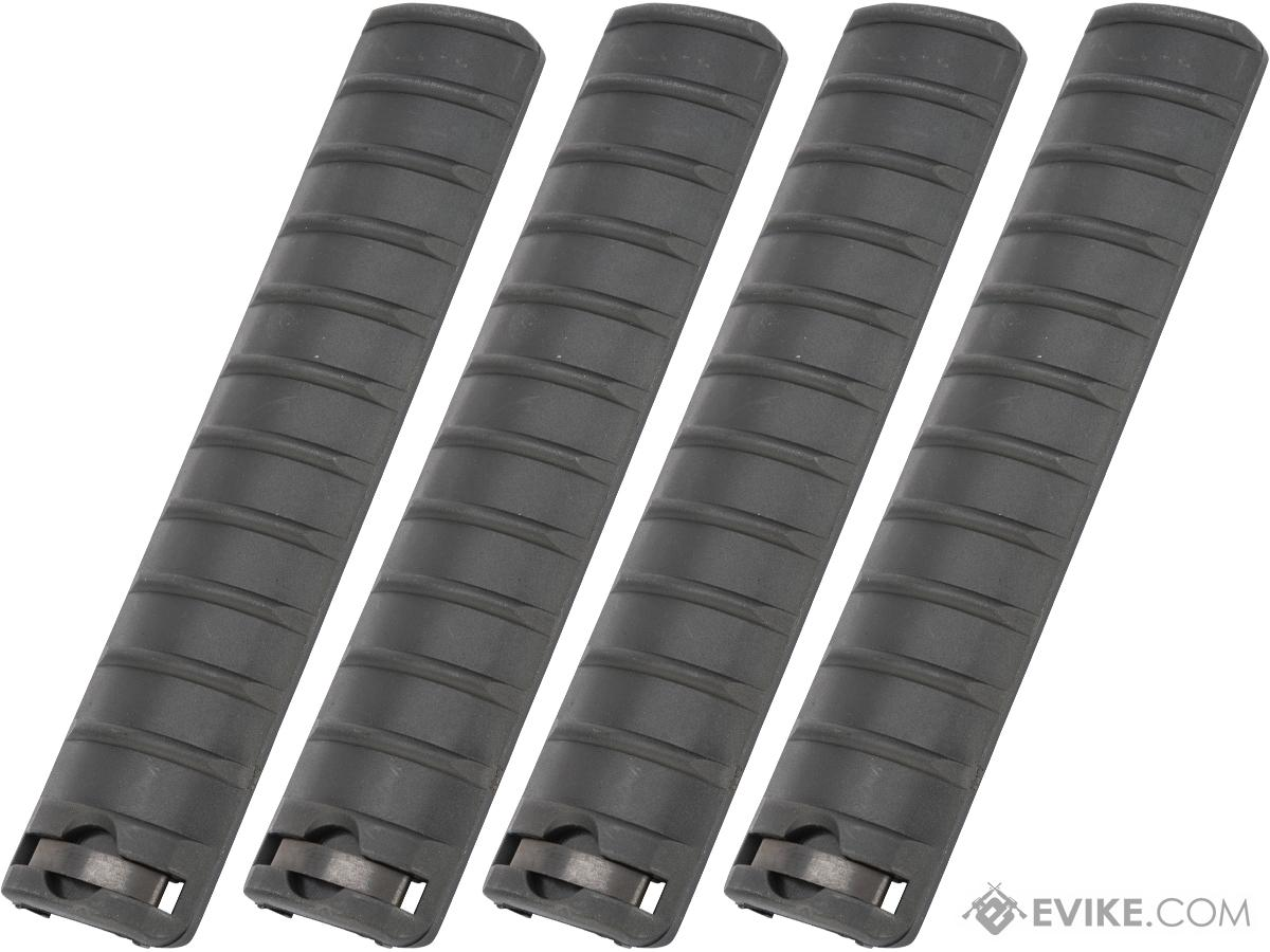 Matrix Polymer Ribbed 6.5 Rail Cover Panel - Set of 4 (Color: Black)